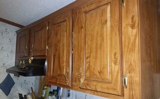 q how to paint shrink wrapped kitchen cabinets, kitchen cabinets, kitchen design, painting
