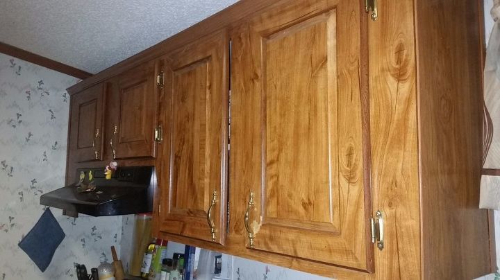 How To Paint Shrink Wrapped Kitchen Cabinets Hometalk
