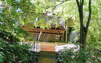 Boring to Beautiful Back Yard Steps