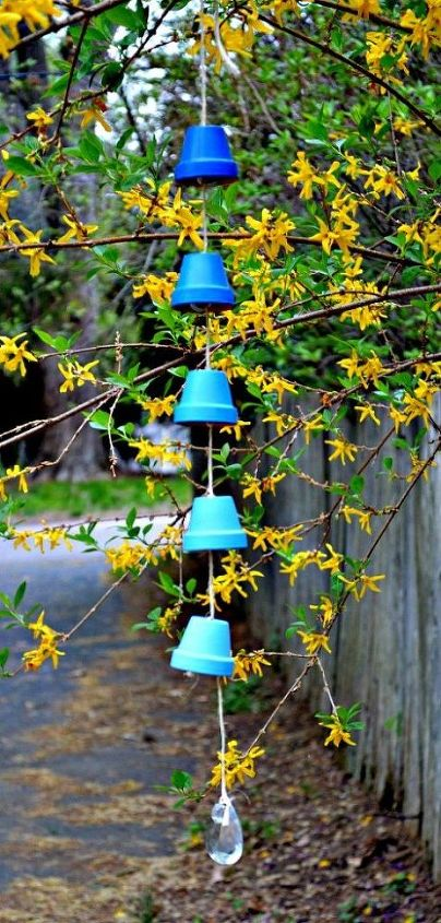 diy ombre wind chimes, crafts, how to, outdoor living, repurposing upcycling