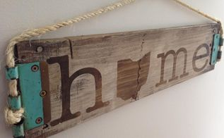 rustic home state sign, crafts, how to, wall decor