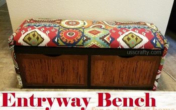 Entryway Bench for a Shoe-Free Home