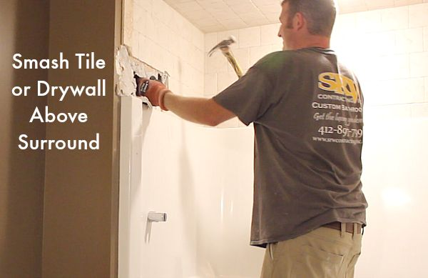 how to remove a fiberglass bathtub and surround in 60 minutes, bathroom ideas, how to