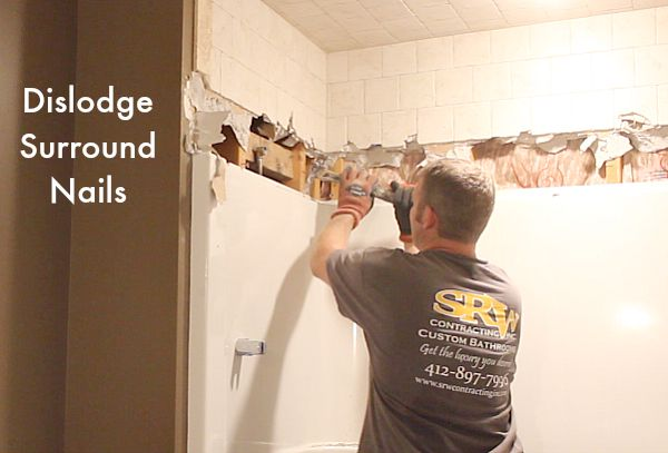 How to Remove a Fiberglass Bathtub and Surround in 60 Minutes | Hometalk