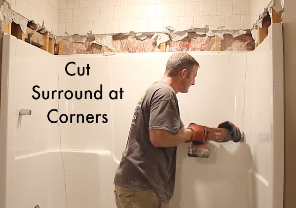 How To Remove A Fiberglass Bathtub And Surround In 60
