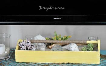 Beach Themed Summer Vignette Using an Old Tool Box