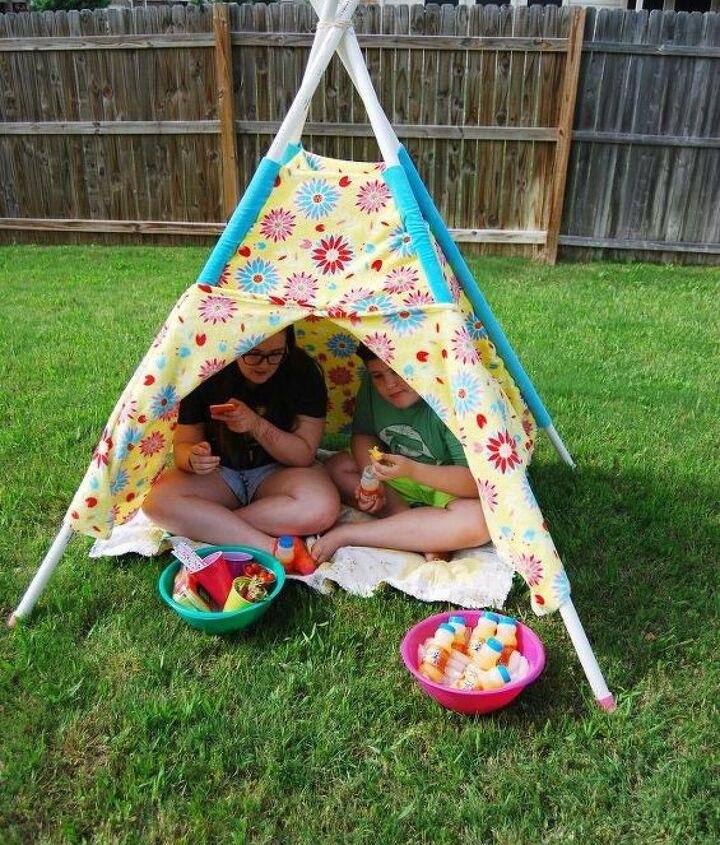make a play tent, entertainment rec rooms