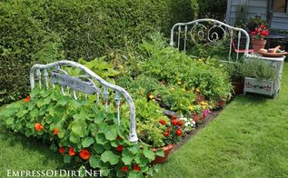 repurposed bed frame to garden bed, flowers, gardening, raised garden beds, repurposing upcycling