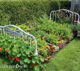 Repurposed Bed Frame To Garden Bed, Flowers, Gardening, Raised Garden Beds,  Repurposing