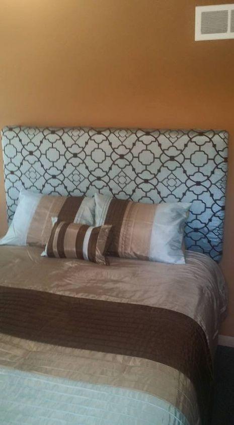 diy headboard, fences, repurposing upcycling, reupholster