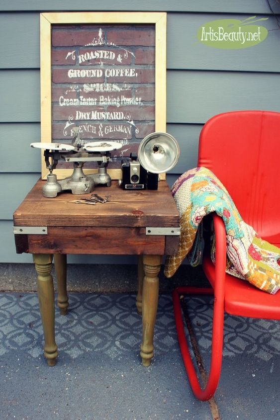 build it yourself custom diy industrial table from rescued materials, diy, painted furniture, repurposing upcycling, woodworking projects