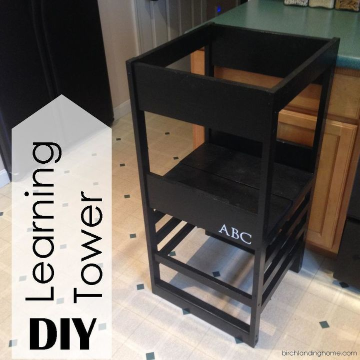 diy learning tower based on plans by ana white, diy, how to, woodworking projects