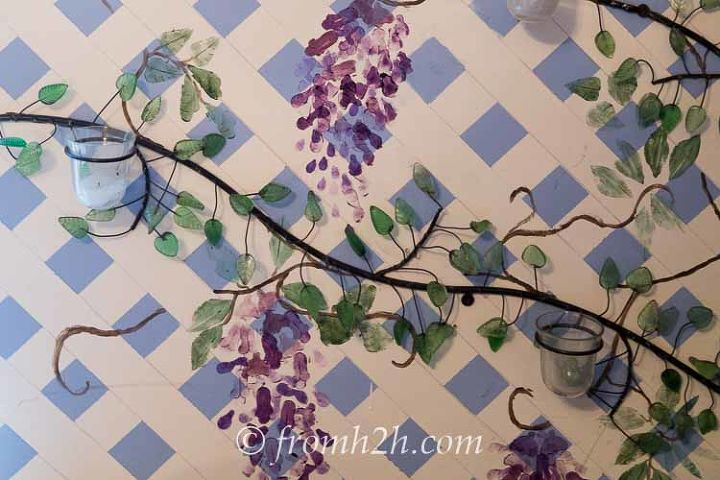 how to paint a trellis wall, gardening, how to, outdoor living, painting