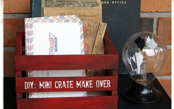 diy mini crate make over, chalk paint, crafts, how to, repurposing upcycling