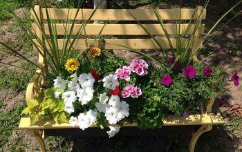 My Garden Bench.  Literally!