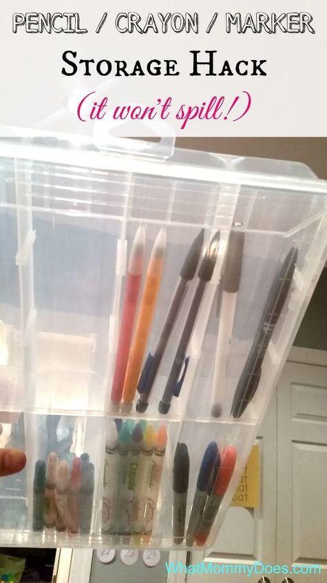3 Pencil Marker Crayon Craft Storage Hack That Wont Spill