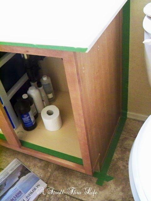 bathroom vanity makeover step by step tutorial, bathroom ideas, how to, painting