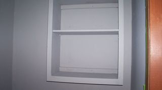 , Cabinet doors removed and cabinet painted