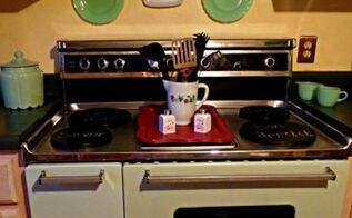 painted oven, appliances, painting, repurposing upcycling
