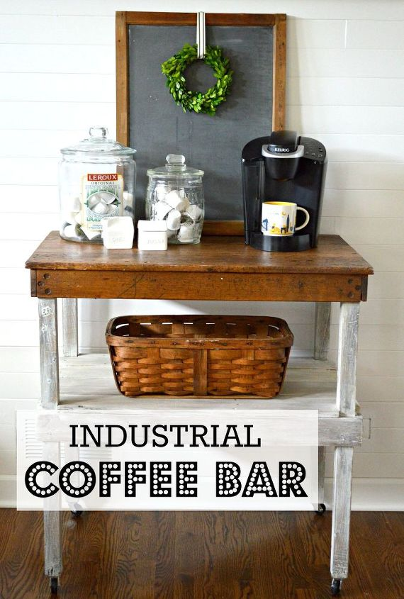 Work Bench Turned Coffee Bar How To Outdoor Furniture Living