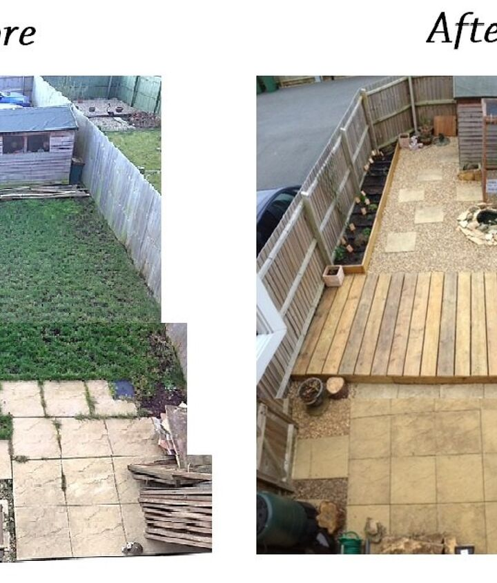 before and after small garden