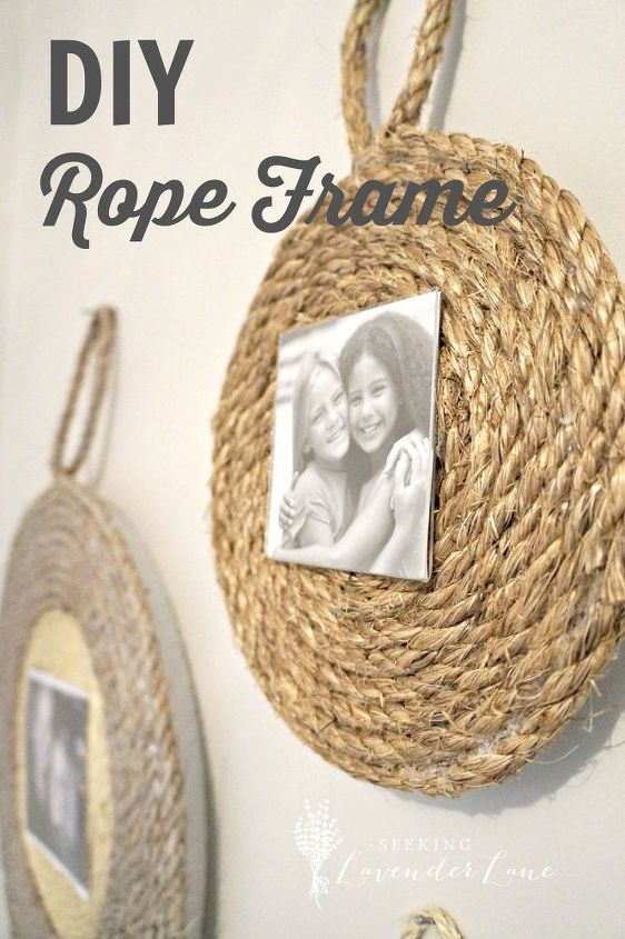 diy rope frame, crafts, how to, repurposing upcycling, wall decor