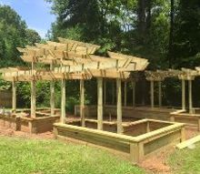 a georgia raised garden loading the boxes, composting, gardening, go green, raised garden beds, woodworking projects