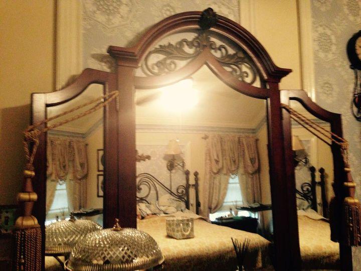 q suggestions on to update mediterranean bedroom furniture, bedroom ideas, painted furniture, Full shot of dresser mirror