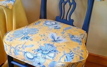 Midnight Sky and Toile Chair