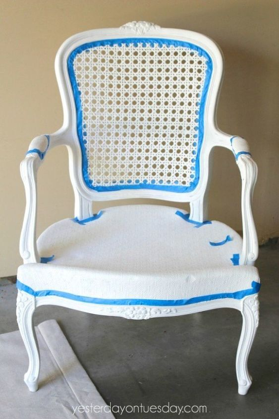 diy beachy chair, chalk paint, how to, outdoor living, painted furniture