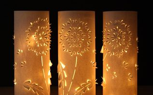 dandelion lanterns from up cycled plastic bottles, crafts, how to, lighting, repurposing upcycling