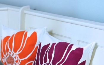 make diy painted accent pillows using flower stencils, crafts, how to, reupholster