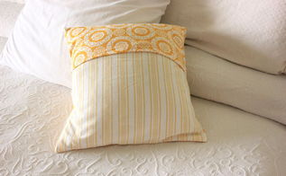 create this beautiful pillow easily from dish towels 30dayflip, crafts, how to, repurposing upcycling, reupholster