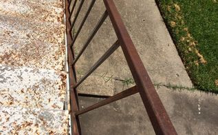 q how to remove rust off an iron stairwell, cleaning tips, This is how bad it is