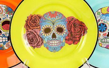 Sugar Skull Plates DIY