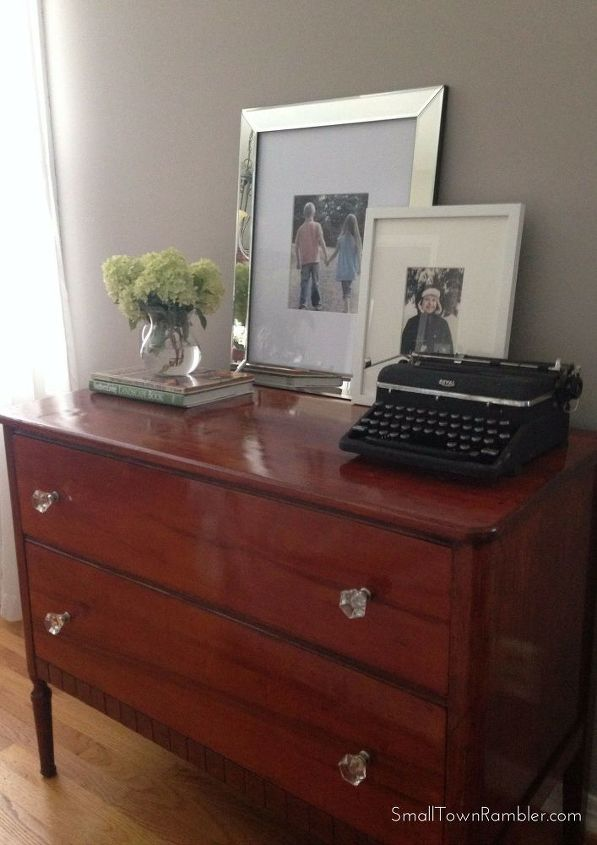 furniture makeover with stain and finish in one, painted furniture, repurposing upcycling
