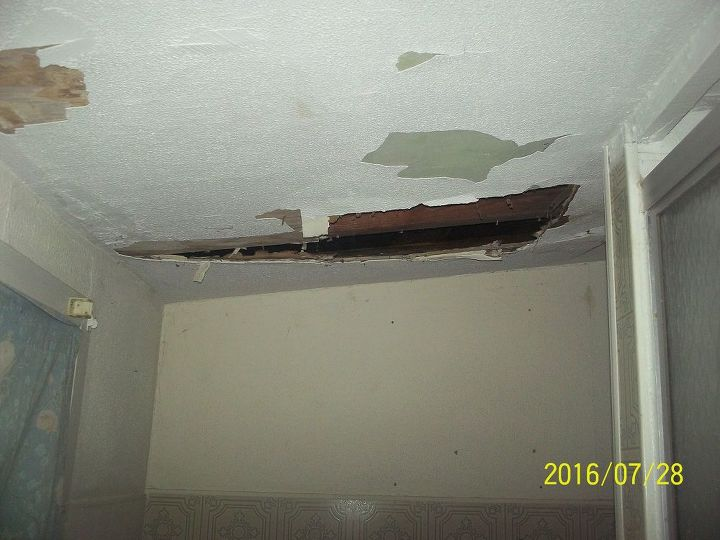 The ceiling in the bathroom has completely collapsed! What is this? Is this serious or an easy fix?