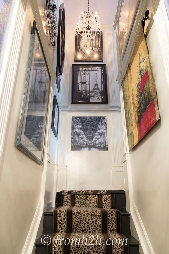 How To Add Interest A Tall Narrow Stairway Home Decor