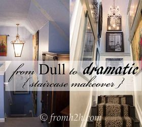 How To Add Interest To A Tall Narrow Stairway, Home Decor, How To,