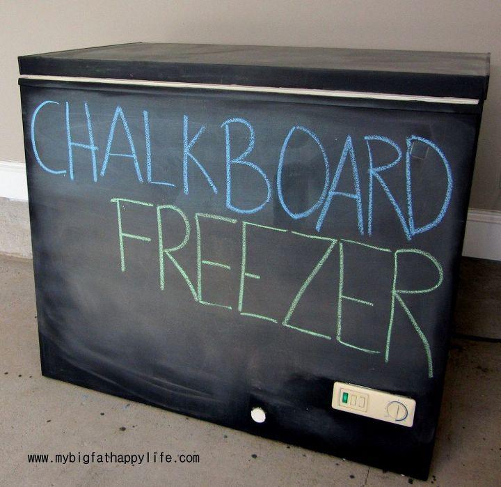 diy chalkboard freezer, appliances, chalkboard paint, repurposing upcycling