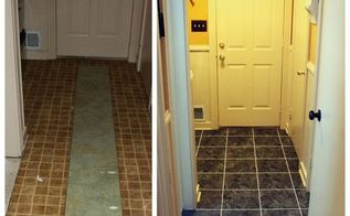 before and after laundry room floor makeover diy style, flooring, laundry rooms, tile flooring, tiling