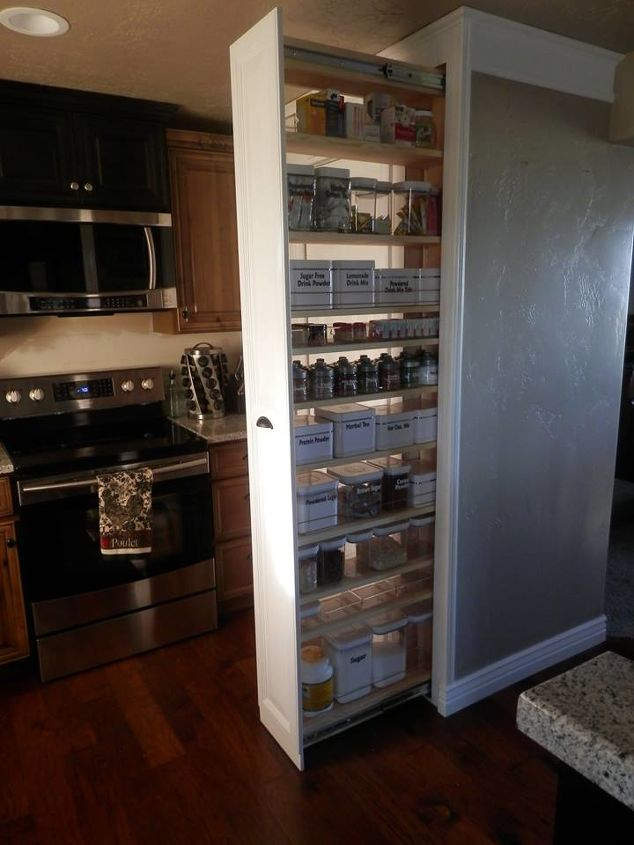 Pull out pantry hometalk - Kitchen pantry cabinet design plans ...