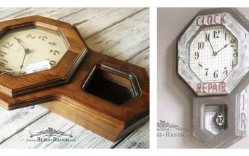 time to update a thrifted clock, repurposing upcycling, wall decor