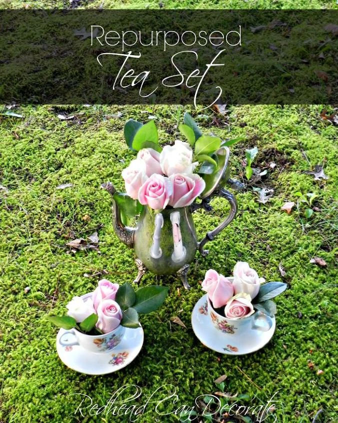 tea for 2 thrifty makeover, crafts, repurposing upcycling