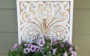 wall planter repurposed from a water fountain, container gardening, gardening, repurposing upcycling