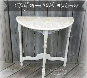 Half Moon Table Makeover, Chalk Paint, Painted Furniture