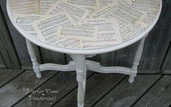 Half Moon Table Makeover