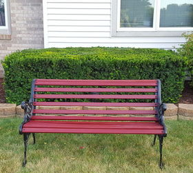 Stupendous Outdoor Bench Makeover Hometalk Gamerscity Chair Design For Home Gamerscityorg