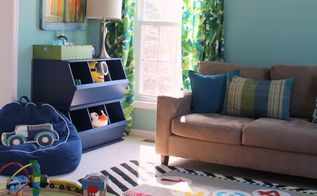 wallpapered formal living room becomes a playful toy room, living room ideas, wall decor