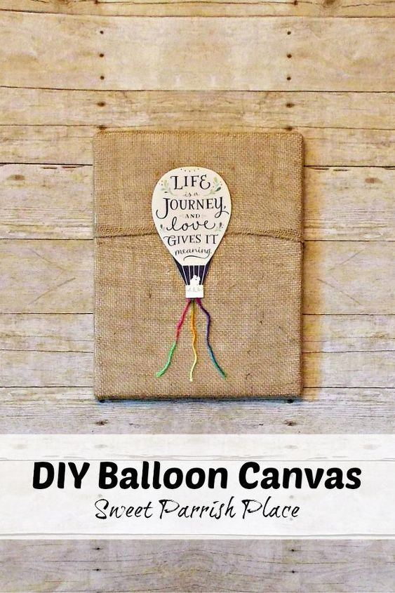 diy wall art hot air balloon canvas, crafts, wall decor, woodworking projects